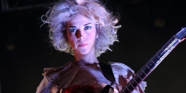 Annie Clark aka St. Vincent performs at The NPR Showcase at the 2014 SXSW Music, Film + Interactive Festival, on Wednesday, March 12, 2014 in Austin, Texas. (Photo by John Davisson/Invision/AP)