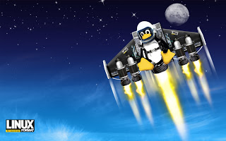 Flying Linux Penguin Mascot with Space Shuttle HD Wallpaper ...