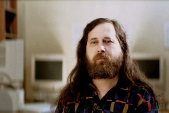 Richard Stallman, founder of the GNU Project and the Free Software movement. Stallman is the philosophical godfather of the movement. Photo by J.T.S. Moore