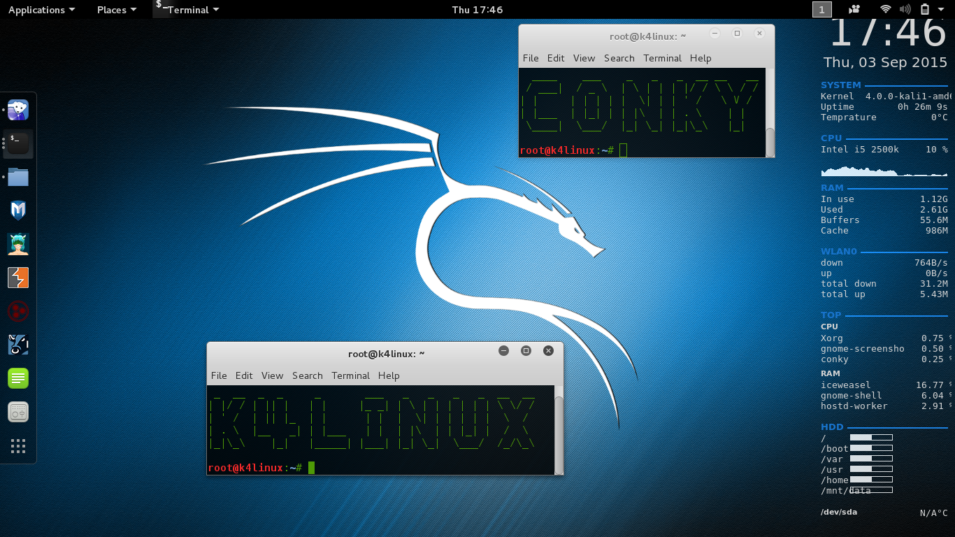 Conky is a system monitor for X originally based on the torsmo code.