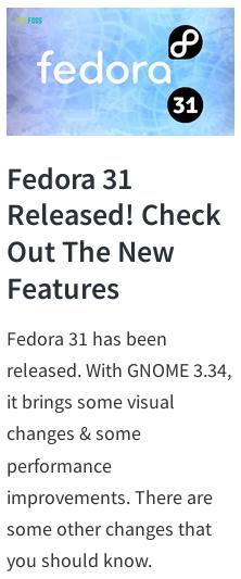 Fed31FOSS