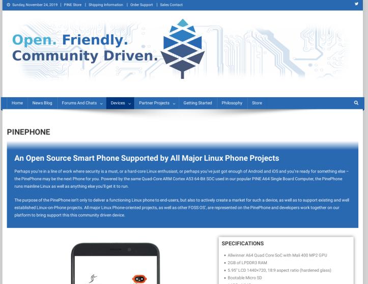 PinePhoneWebsite