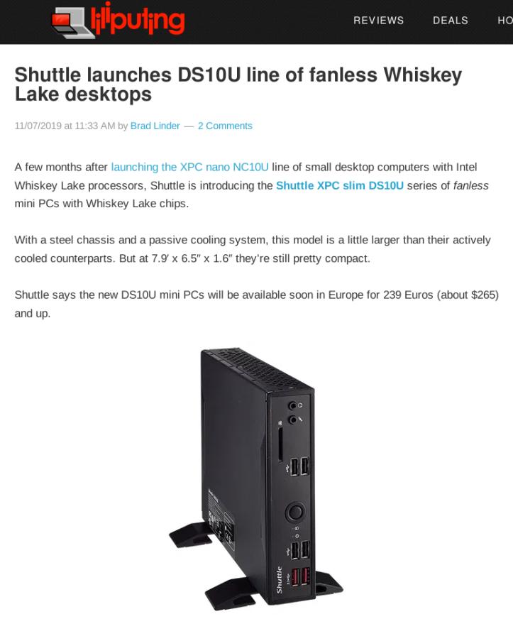ShuttleFanless